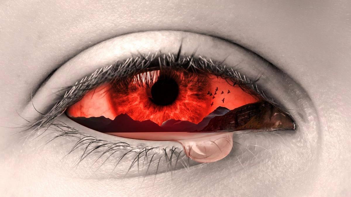 ojo llorando tipos de emociones