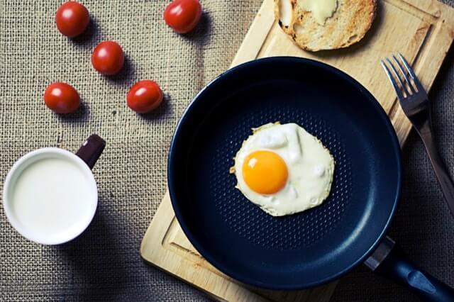 zanahoria, huevo, café