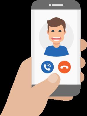 psicólogo online Barcelona - icono llamada online