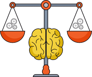 psiquiatra barcelona psicoemocionat - Icono cerebro Balanza